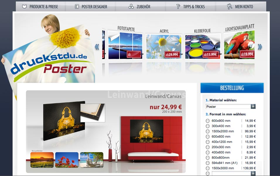 Referenz Digitaldruck Poster Internetagentur Leipzig Kreado Startseite