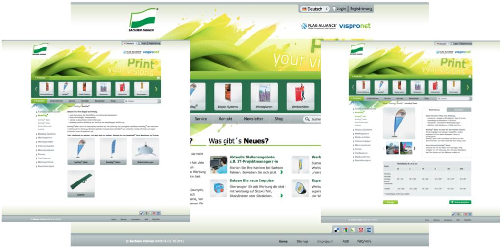 Internetagentur Leipzig Referenzen Sachsenfahnen typo3 website